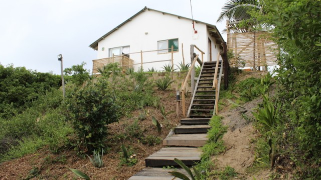 Steps to house
